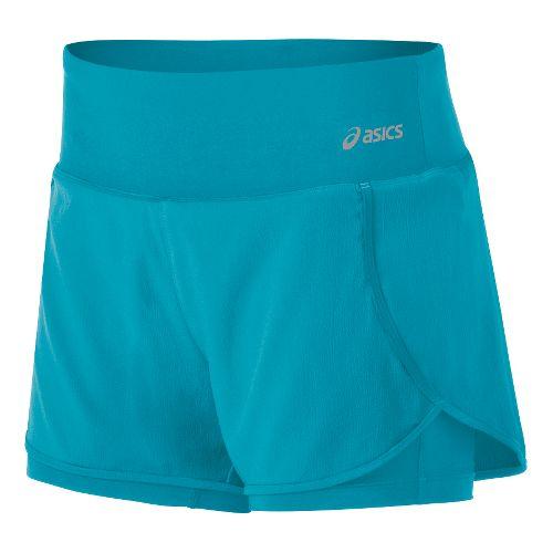 Womens ASICS Fit-Sana 2-in-1 Shorts - Bondi Blue XL