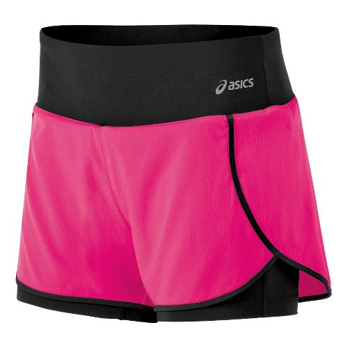 Womens ASICS Fit-Sana 2-in-1 Shorts - Magenta XL