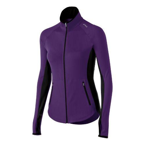 Womens ASICS Fit-Sana Running Jackets - Berry XS