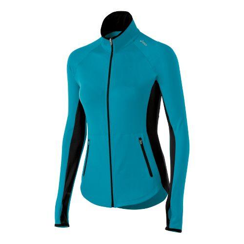 Womens ASICS Fit-Sana Running Jackets - Bondi Blue M