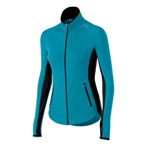 Womens ASICS Fit-Sana Running Jackets - Bondi Blue XL