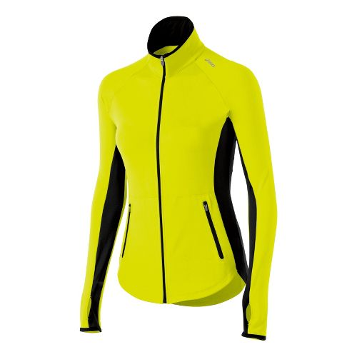 Womens ASICS Fit-Sana Running Jackets - Electric Lime M