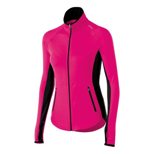 Womens ASICS Fit-Sana Running Jackets - Magenta M