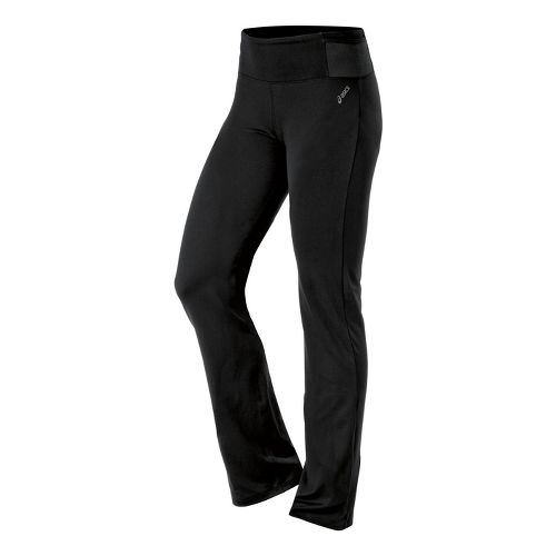Womens ASICS Fit-Sana Slim Full Length Pants - Black M