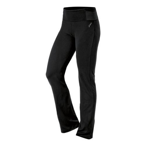 Womens ASICS Fit-Sana Slim Full Length Pants - Black XS