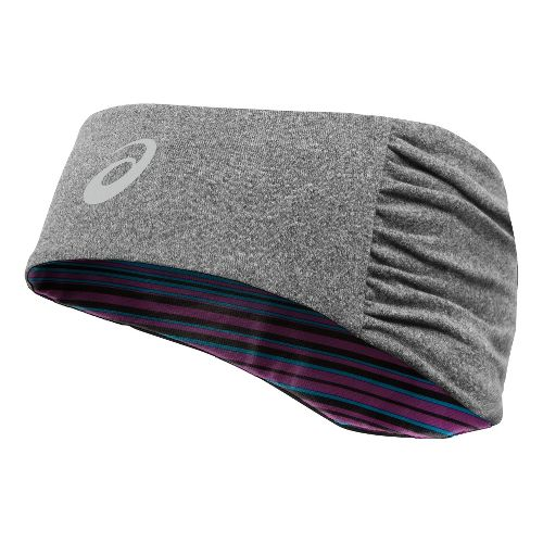 Womens ASICS Felicity Fleece Headwarmer Headwear - Heather Iron