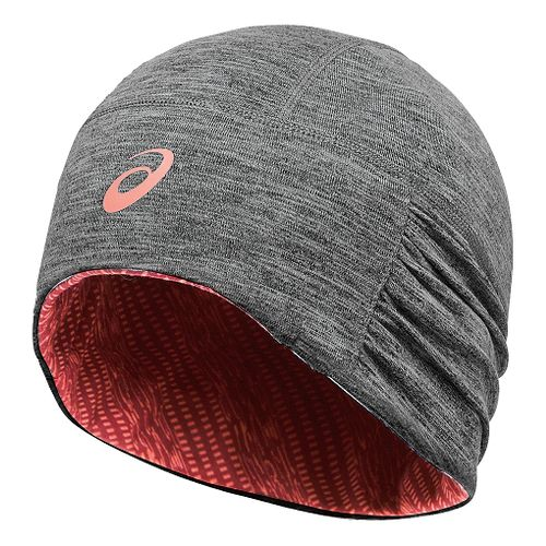 Womens ASICS Felicity Fleece Beanie Headwear - Grey Heather