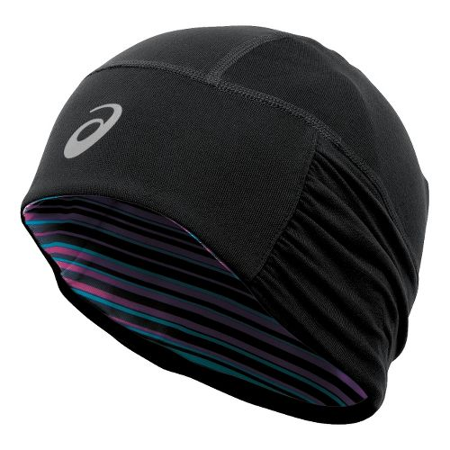 Womens ASICS Felicity Fleece Beanie Headwear - Black