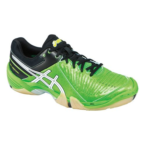 Mens ASICS GEL-Domain 3 Court Shoe - Neon Green/Black 14