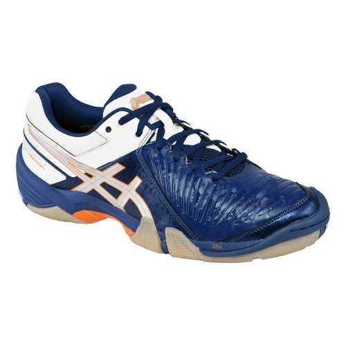 Mens ASICS GEL-Domain 3 Court Shoe - Navy/White 6.5