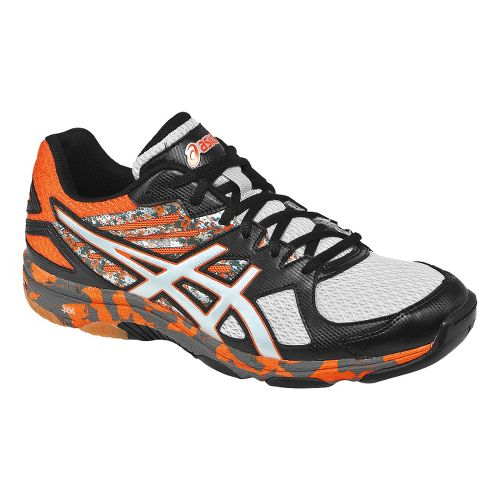 Mens ASICS GEL-Flashpoint 2 Court Shoe - Black/Flame 7