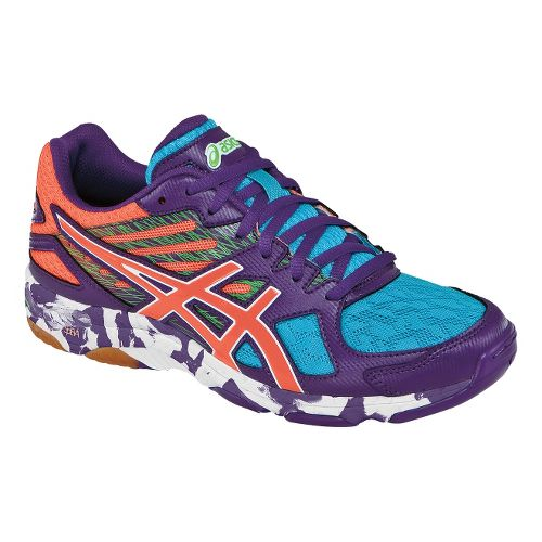 Womens ASICS GEL-Flashpoint 2 Court Shoe - Grape/Peach 6.5