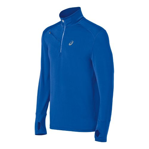 Mens ASICS Thermal XP Long Sleeve 1/2 Zip Technical Tops - New Blue 2X