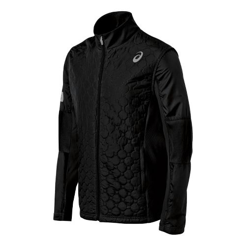Mens ASICS Thermo Windblocker Running Jackets - Black XL