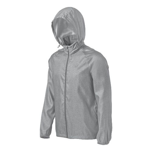 Mens ASICS Electro Running Jackets - Heather Grey M