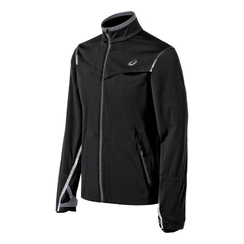 Mens ASICS Accelerate Running Jackets - Black XL