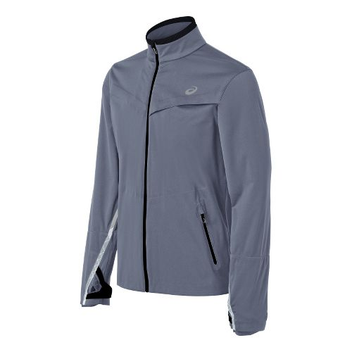 Mens ASICS Accelerate Running Jackets - Slate L