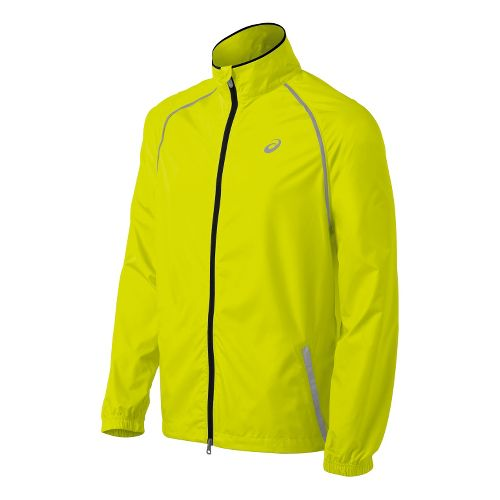 Mens ASICS Spry Running Jackets - Electric Lime M