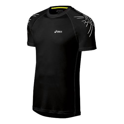 Mens ASICS Tiger Short Sleeve Technical Tops - Performance Black XL