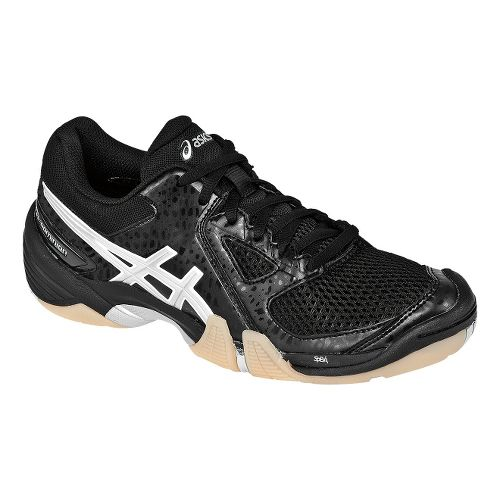 Womens ASICS GEL-Dominion Court Shoe - Black/Silver 10.5