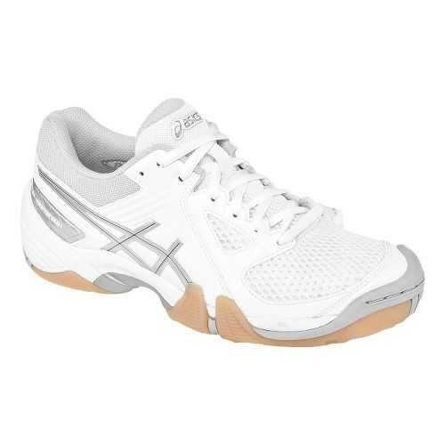 Womens ASICS GEL-Dominion Court Shoe - White/Silver 5.5