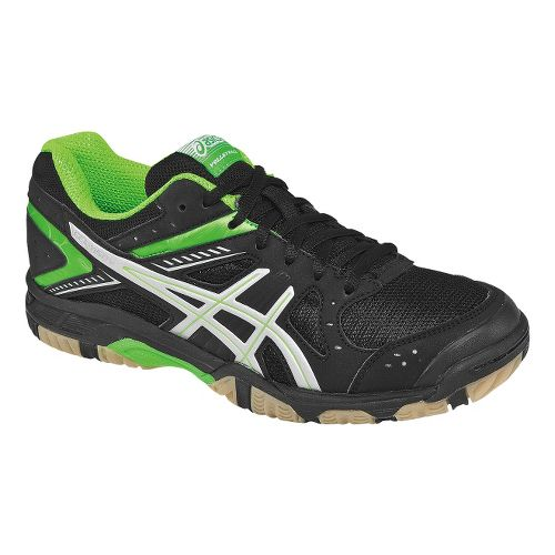 Womens ASICS GEL-1150V Court Shoe - Black/Neon Green 12