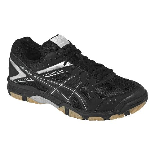 Womens ASICS GEL-1150V Court Shoe - Black/Silver 7.5