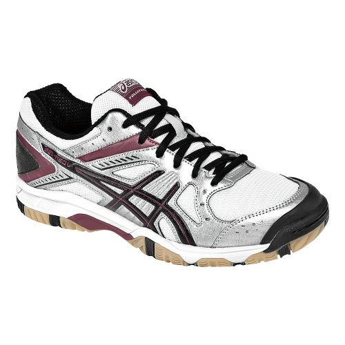 Womens ASICS GEL-1150V Court Shoe - Silver/Cardinal 8.5
