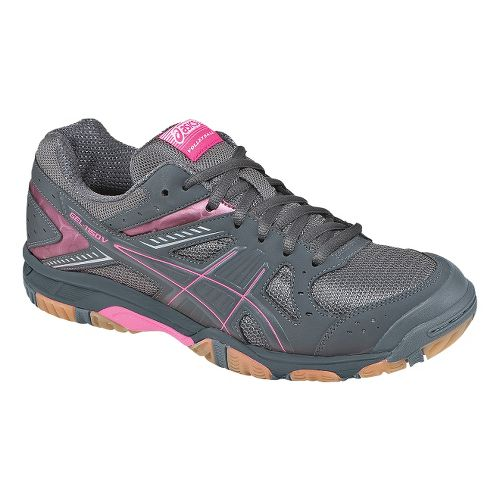 Womens ASICS GEL-1150V Court Shoe - Smoke/KnockoutPink 7.5