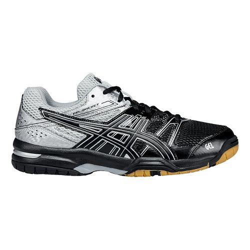 Mens ASICS GEL-Rocket 7 Court Shoe - Black/Silver 10