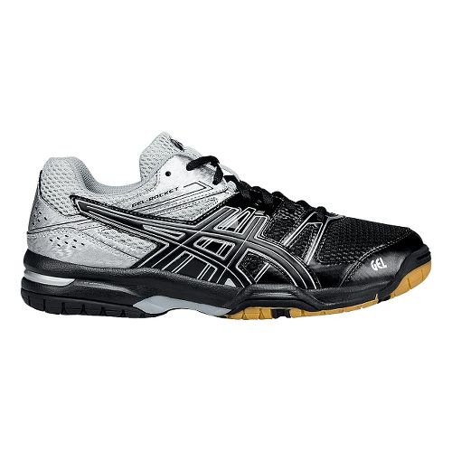 Mens ASICS GEL-Rocket 7 Court Shoe - Black/Silver 6.5