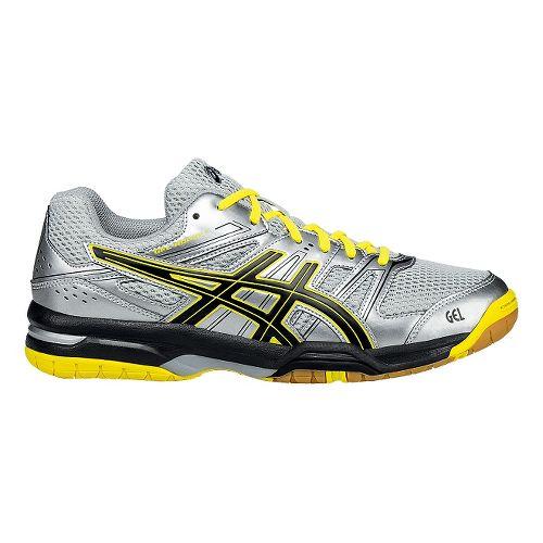 Mens ASICS GEL-Rocket 7 Court Shoe - Silver/Yellow 6.5