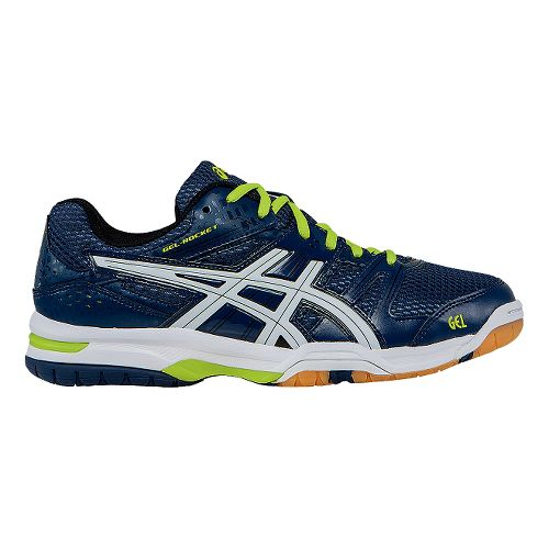 Mens ASICS GEL-Rocket 7 Court Shoe - Navy/White 13