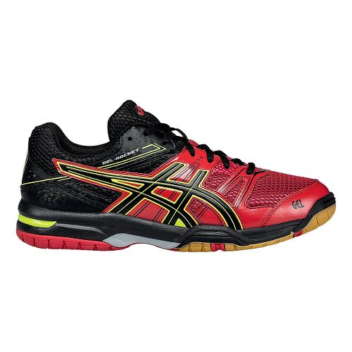Mens ASICS GEL-Rocket 7 Court Shoe - Red/Black 14