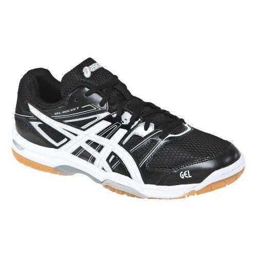 Mens ASICS GEL-Rocket 7 Court Shoe - Black/White 8.5