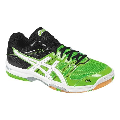 Mens ASICS GEL-Rocket 7 Court Shoe - Neon Green/Black 14