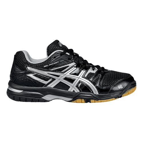 Womens ASICS GEL-Rocket 7 Court Shoe - Onyx/Silver 11.5