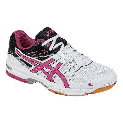 Womens ASICS GEL-Rocket 7 Court Shoe - White/Magenta 9.5
