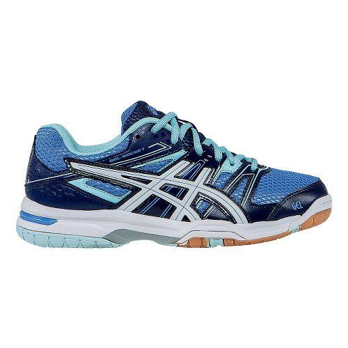 Womens ASICS GEL-Rocket 7 Court Shoe - Powder Blue/White 8.5