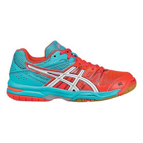 Womens ASICS GEL-Rocket 7 Court Shoe - Pink/White 7.5