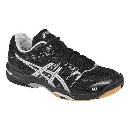 Womens ASICS GEL-Rocket 7 Court Shoe - Black/Silver 11.5
