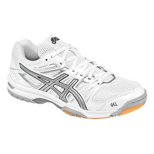 Womens ASICS GEL-Rocket 7 Court Shoe - White/Silver 10.5