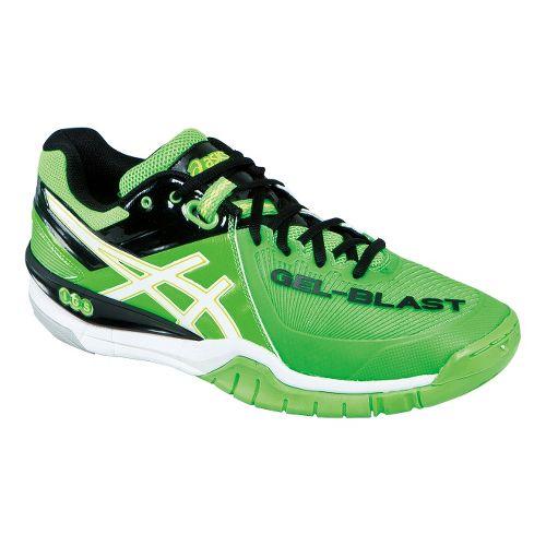 Mens ASICS GEL-Blast 6 Court Shoe - Green/White 12.5