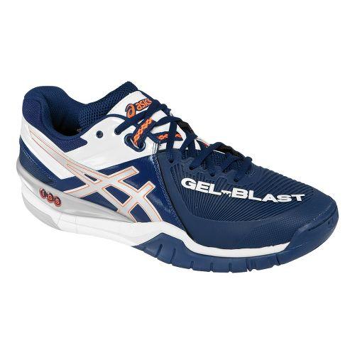Mens ASICS GEL-Blast 6 Court Shoe - Navy/Lightning 8.5