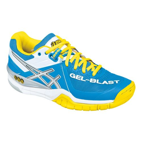 Womens ASICS GEL-Blast 6 Court Shoe - Diva Blue/Yellow 5