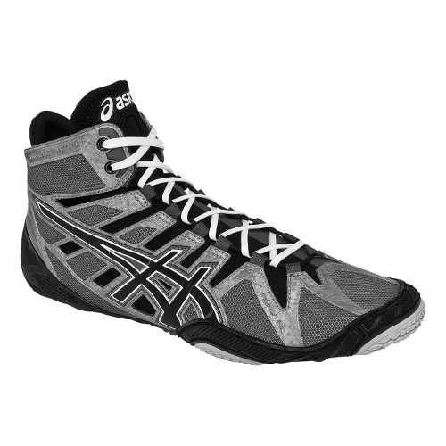 Mens ASICS Omniflex-Attack Wrestling Shoe - Charcoal/Black 10.5