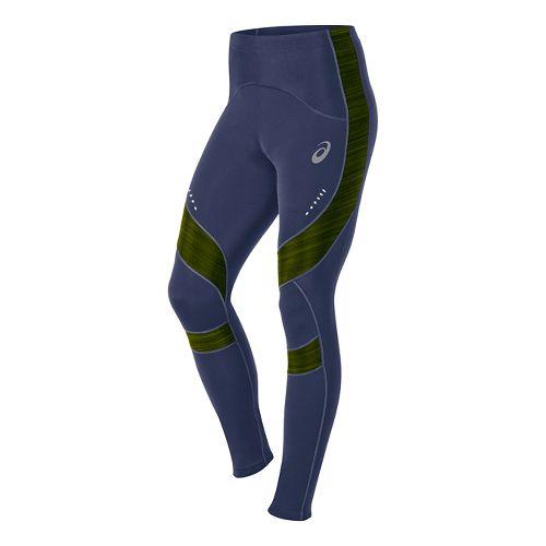 Mens ASICS Leg Balance Tight Fitted Tights - Indigo Blue XL