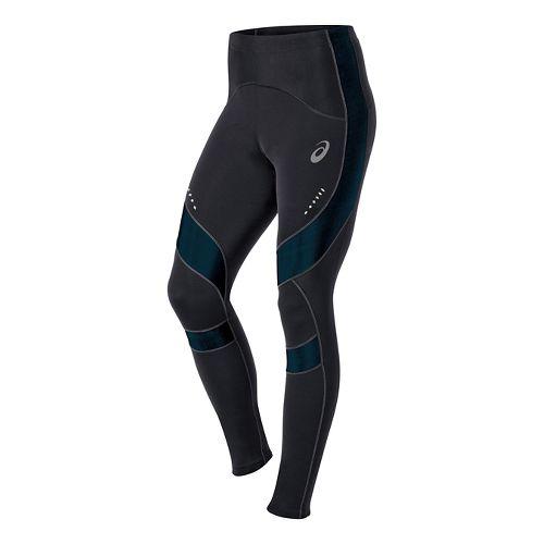 Mens ASICS Leg Balance Tight Fitted Tights - Black/Mosaic Blue XXL