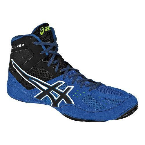 Mens ASICS Cael V6.0 Wrestling Shoe - Electric Blue/Black 12.5