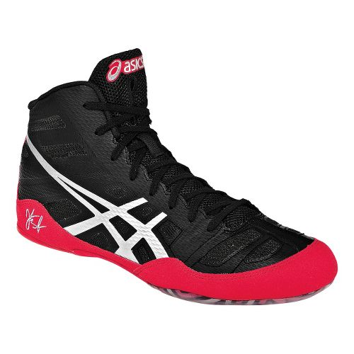 Mens ASICS JB Elite Wrestling Shoe - Black/Red 7.5